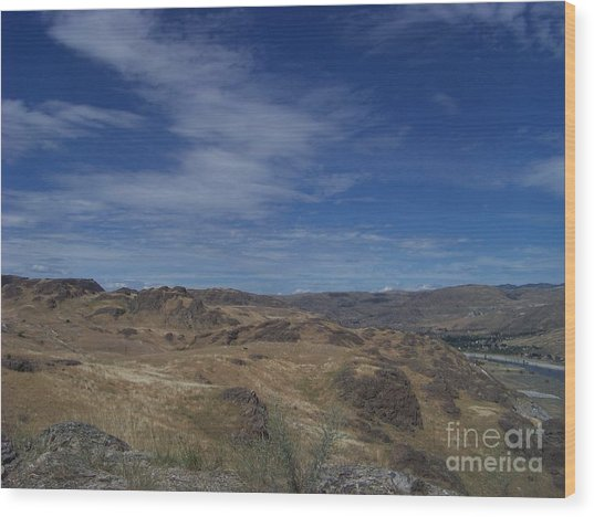Scablands At Grand Coulee Wood Print