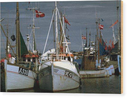 Scandinavian Fisher Boats Wood Print