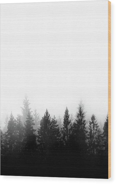 Scandinavian Forest Wood Print