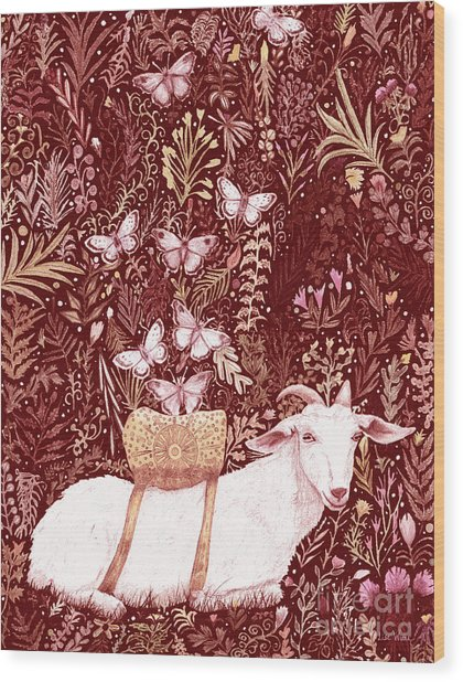 Scapegoat Healing Tapestry Print Wood Print