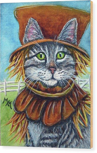 Scarecrow Tabby Wood Print
