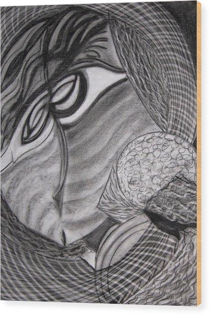 Scarf Wood Print