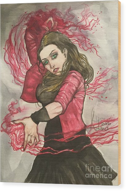 Scarlet Witch  Wood Print
