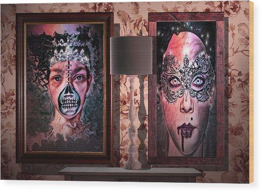 Scary Museum Wallart Wood Print