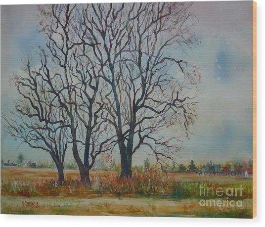 Scary Tree Wood Print by Joyce A Guariglia