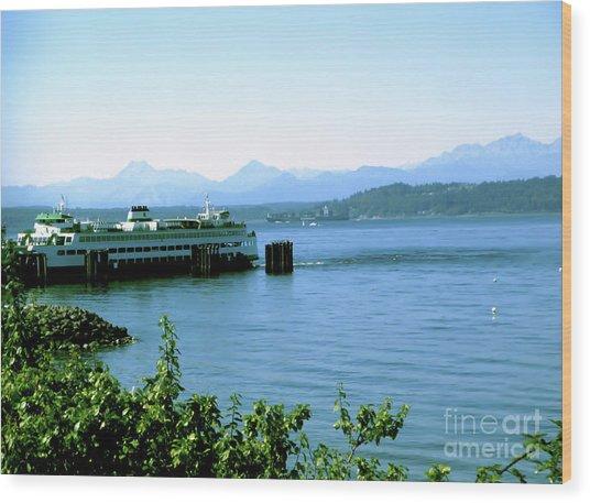 Scenic Ferry Image Wood Print