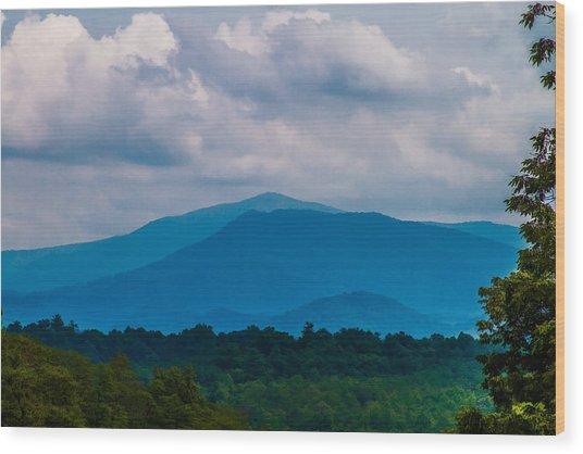 Scenic Overlook - Smoky Mountains Wood Print by Barry Jones