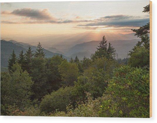 Scenic Smoky Mountains Wood Print by Doug McPherson