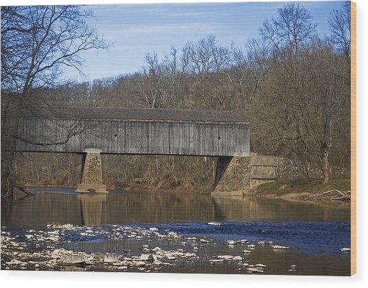 Schofield Ford Covered Bridge Wood Print