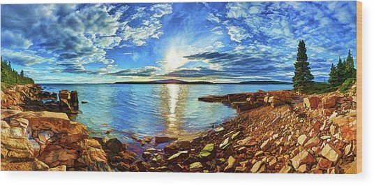 Schoodic Point Cove Wood Print