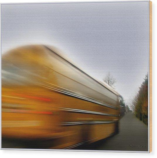 School Bus Wood Print
