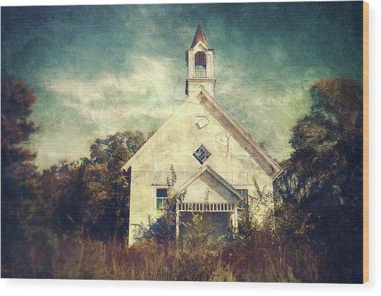 Schoolhouse 1895 Wood Print