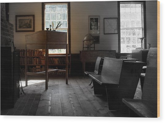 Schoolroom 1 Wood Print by Lois Lepisto