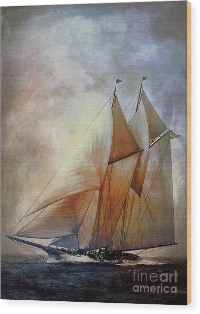 Schooner America In 1910.   Wood Print