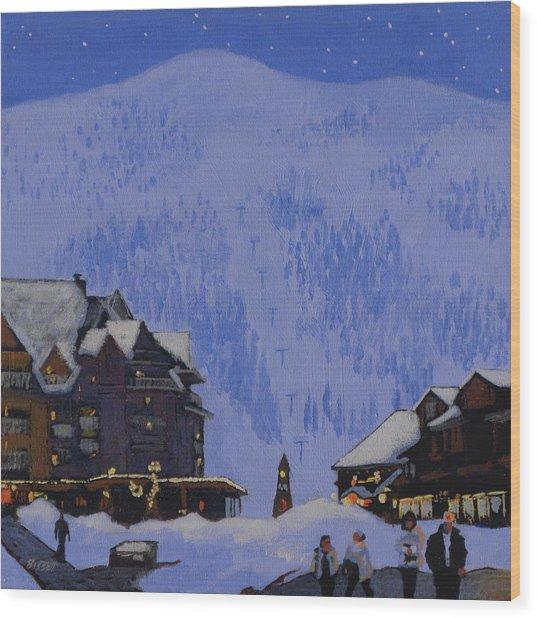 Schweitzer Nights Wood Print by Robert Bissett