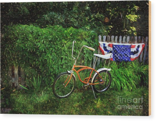 Schwinn Deluxe Stingray 65 Wood Print