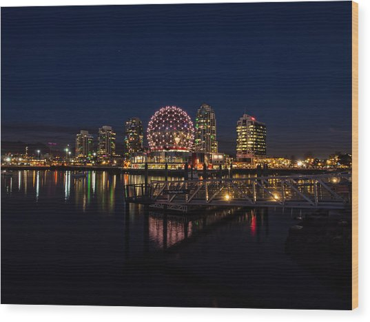 Science World Nocturnal Wood Print