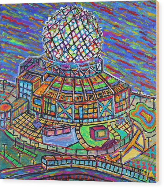 Science World, Vancouver, Alive In Color Wood Print