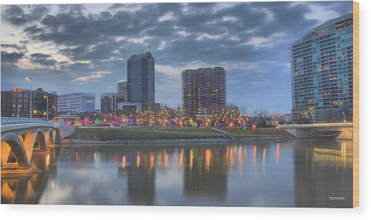 Wood Print featuring the photograph Scioto Morning 3567 by Brian Gryphon