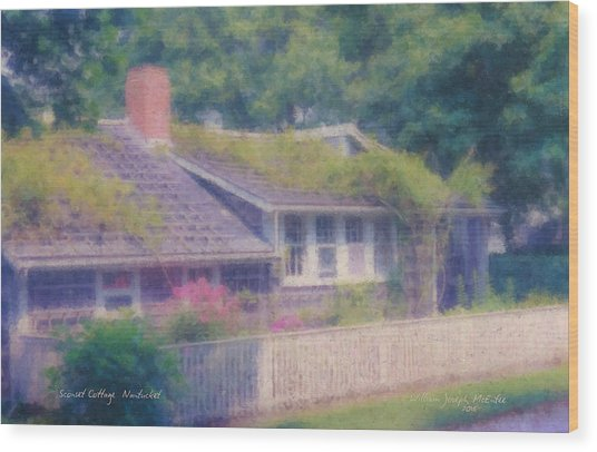 Sconset Cottage #3 Wood Print
