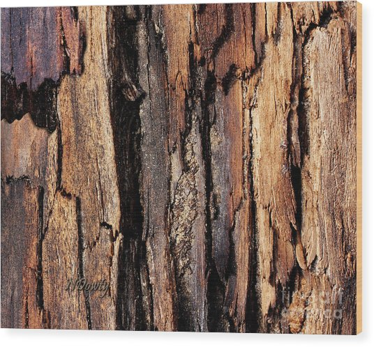 Scorched Timber Wood Print