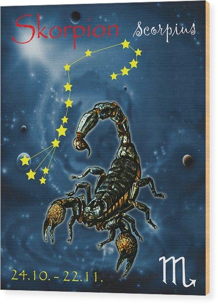 Scorpius And The Stars Wood Print