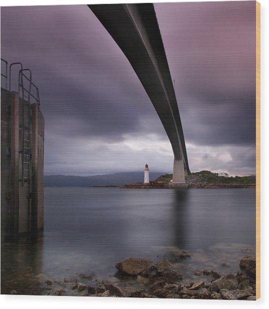 Scotland Skye Bridge Wood Print by Nina Papiorek