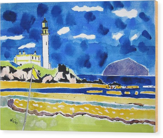 Scotland Turnberry 10 Wood Print by Lesley Giles