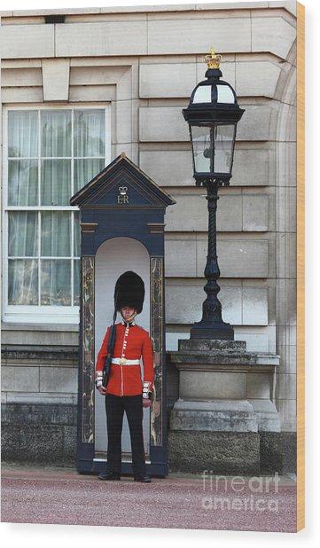 Scots Guard Buckingham Palace Wood Print