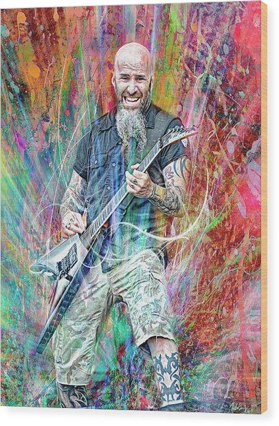 Scott Ian, Anthrax Wood Print