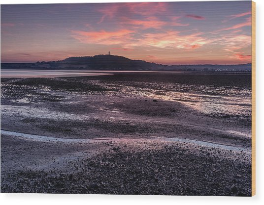 Scrabo Above Strangford Lough Wood Print
