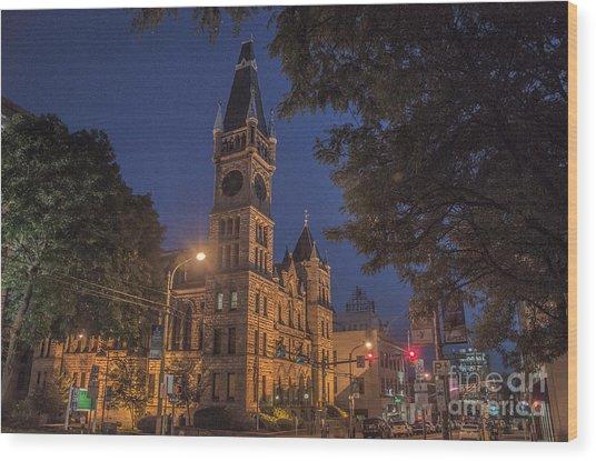 Scranton Pa City Hall Wood Print