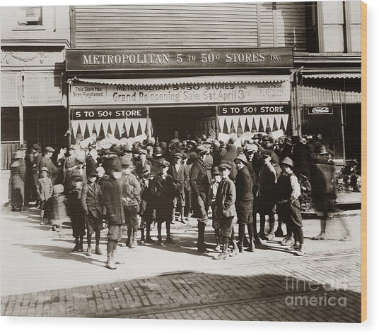 Scranton Pa Metropolitan 5 To 50 Cent Store Early 1900s Wood Print