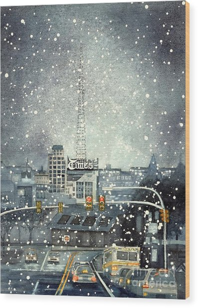 Scranton Times - Auld Lang Syne Wood Print