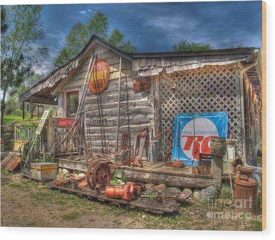 Scrap House Wood Print