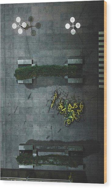 Scrap Metal Wood Print
