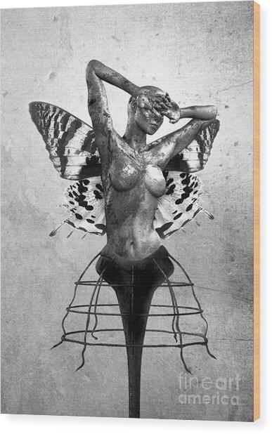 Scream Of A Butterfly II Wood Print