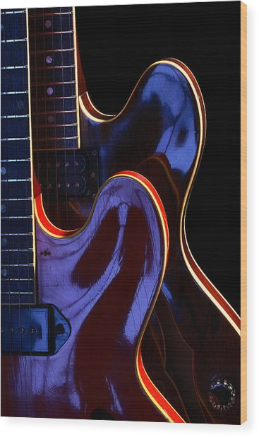 Screaming Guitars Wood Print by Art Ferrier