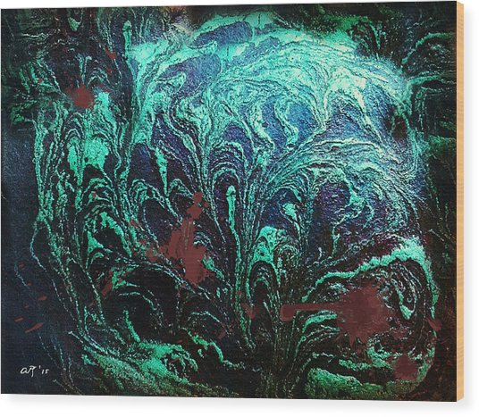 Screaming In The Dark Wood Print