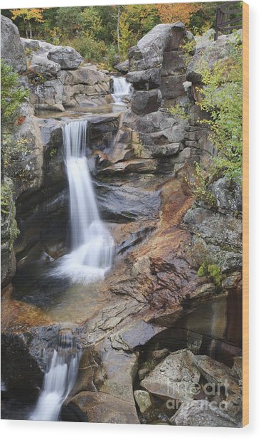 Screw Auger Falls - Maine  Wood Print
