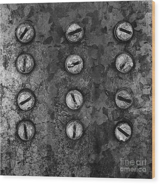 Screws On Utility Box Wood Print