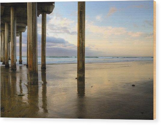 Scripps La Jolla Pier Wood Print