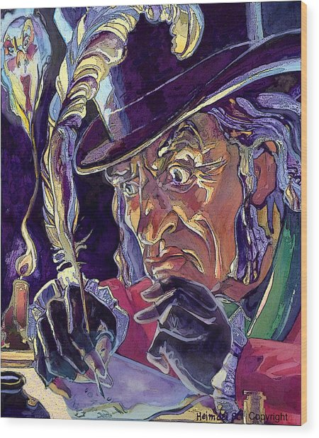 Scrooge And Marley's Ghost Wood Print