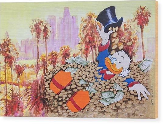 Scrooge In La Wood Print