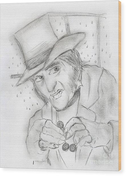 Scrooge Wood Print