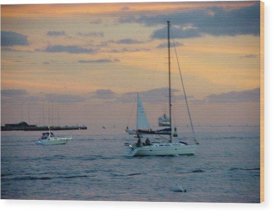 Sd Sunset 3 Wood Print