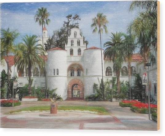 Sdsu Drawing Wood Print