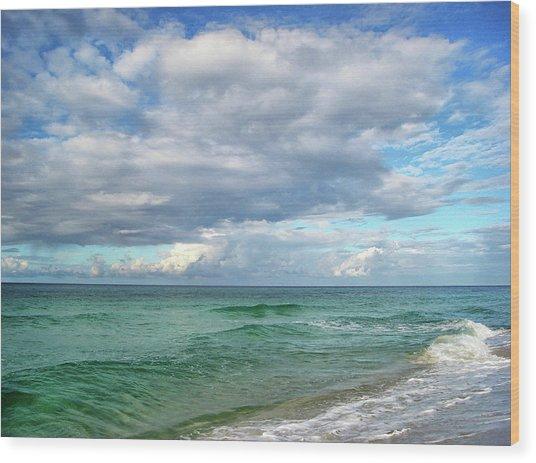 Sea And Sky - Florida Wood Print