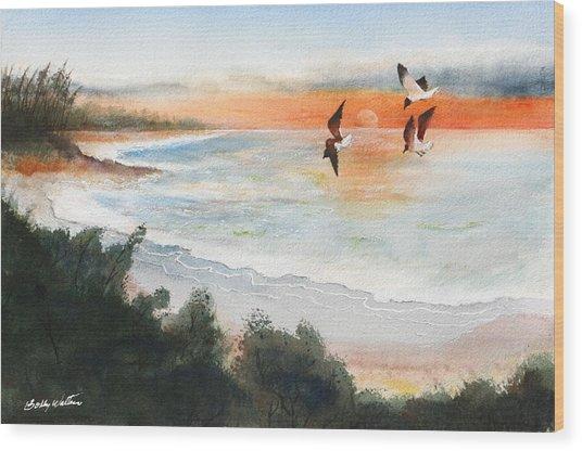Sea Birds Wood Print by Bobby Walters