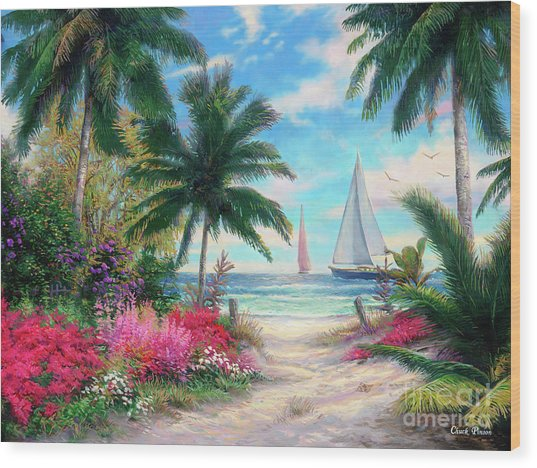 Sea Breeze Trail Wood Print